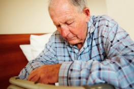 This Elderly Man is exhibiting signs of Nursing Home Abuse.